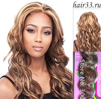 Мелированные русые волосы - 3e