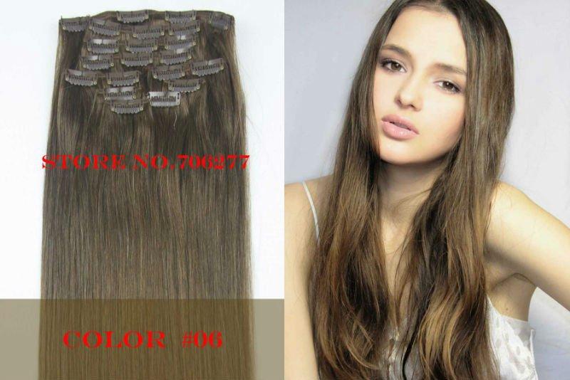 Каштановые накладные волосы